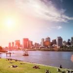 vista da cidade de Brisbane, Queensland, Austrália
