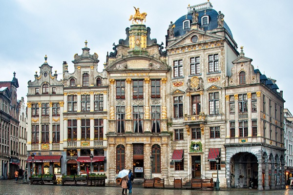 Grand Place or Grote Markt in Brussels. Belgium