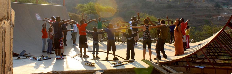 Skates com Crianças na África do Sul