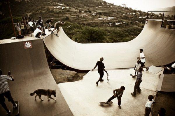 vidaedu volunteer ensinar skates criancas africa do sul