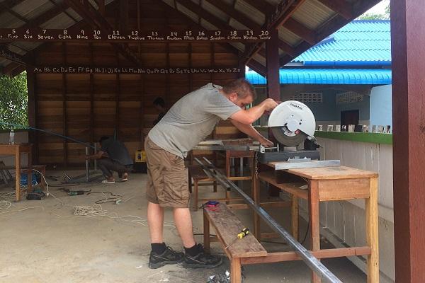 vidaedu voluntariado internacional construcao cambodja asia
