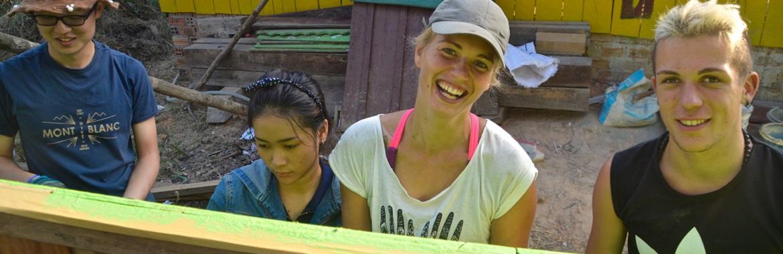 Construção Comunitária no Cambodja