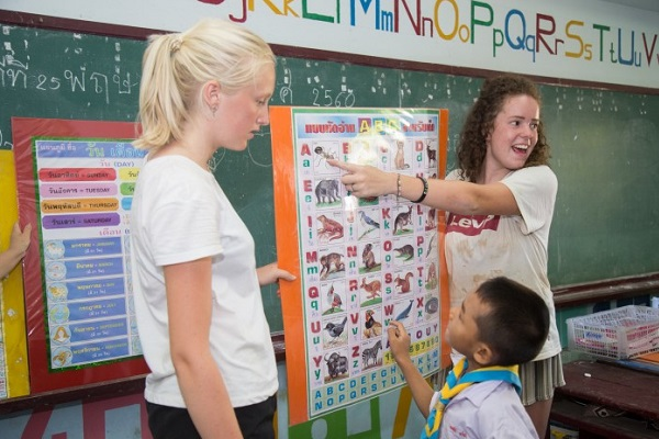 vidaedu voluntariado ensinar criancas singburi tailandia
