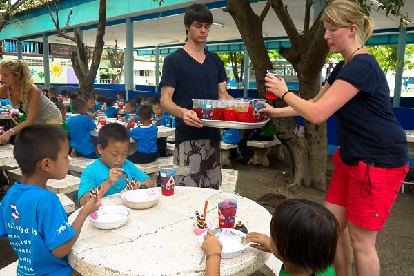 vidaedu voluntariado internacional hora lanche tailandia