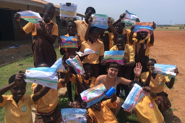 vidaedu volunteer international art design gana africa