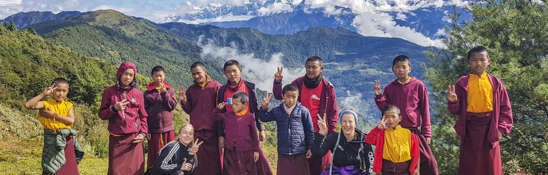 Ensino a Monges no Nepal