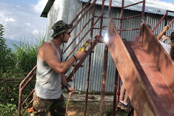 vidaedu volunteer international construction renovation katmandu nepal